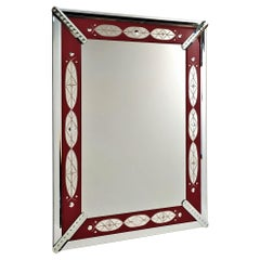 """""""Red Mirror"""" by Fratelli Tosi, Murano Glass Mirror, Handmade Made in Italy"""