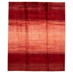 Red Modern Persian Gabbeh Handmade Wool Rug