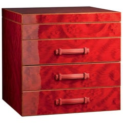 Red Multi-Game Set in Briar and Mahogany by Agresti