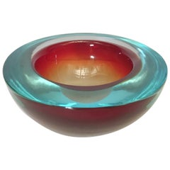 Red Murano Glass Bowl FINAL CLEARANCE SALE