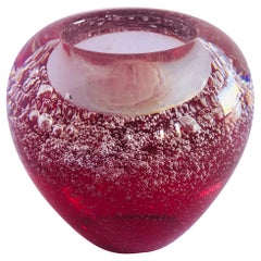 Red Murano Tealight Holder FINAL CLEARANCE SALE