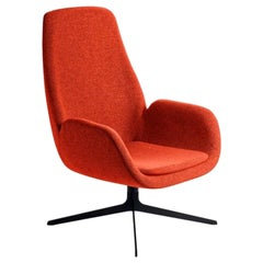 Red Mysa Lounge Chair, Designed by Michael Schmidt, Made in Italy