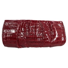 Red Nancy Gonzalez Crocodile Clutch