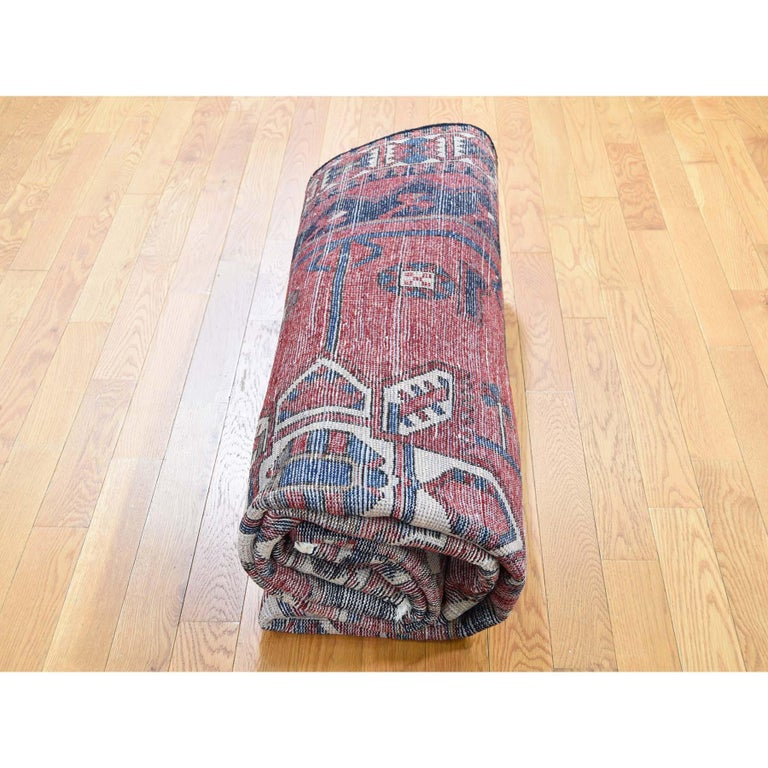 Red New persian Bakhtiari Pure wool Hand Knotted Oriental Rug For Sale 2