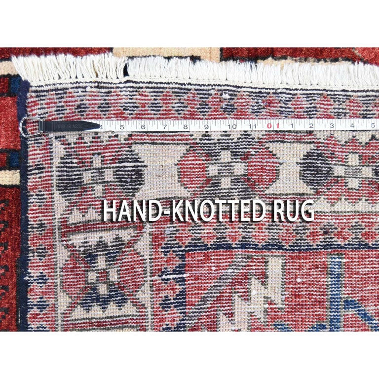Red New persian Bakhtiari Pure wool Hand Knotted Oriental Rug For Sale 4
