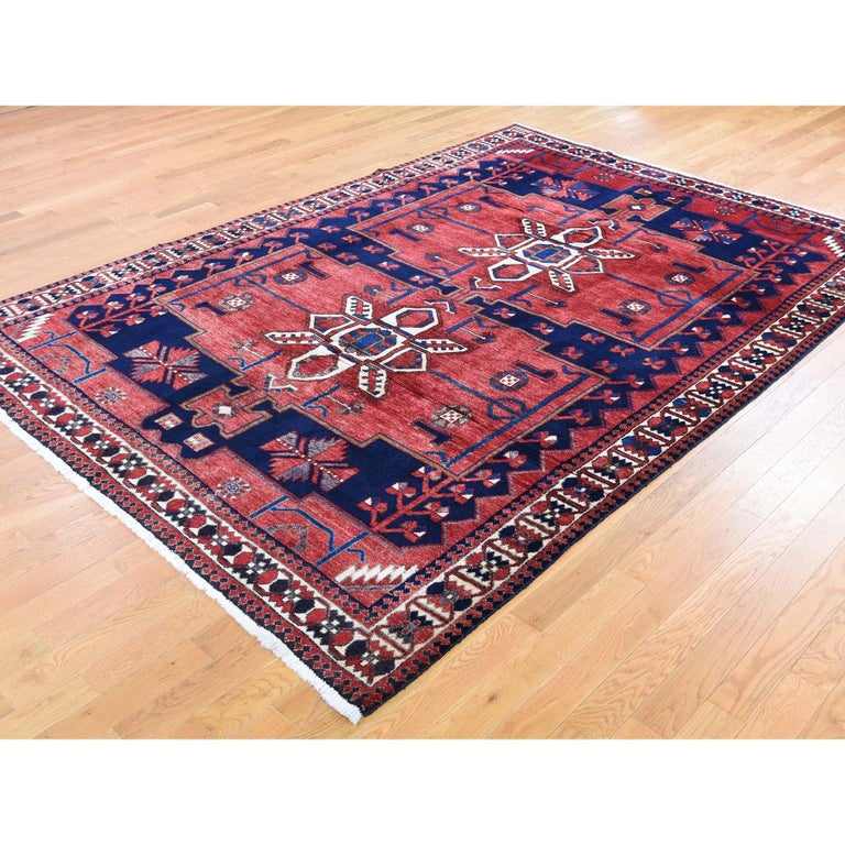 Persian Red New persian Bakhtiari Pure wool Hand Knotted Oriental Rug For Sale