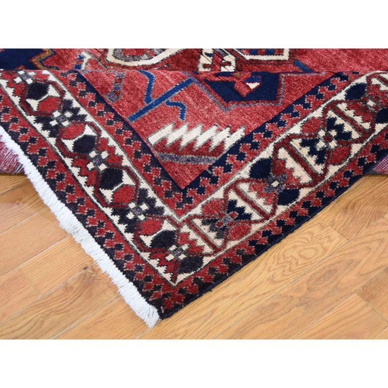 Contemporary Red New persian Bakhtiari Pure wool Hand Knotted Oriental Rug For Sale