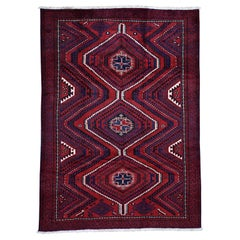Red New Persian Baluch Pure Wool Hand Knotted Oriental Rug