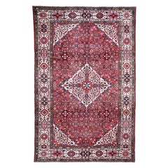 Red New Persian Hussainabad Pure Wool Hand Knotted Oriental Rug