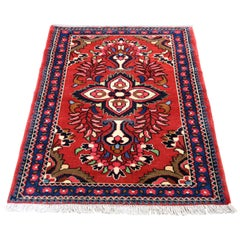 Red Persian Lilahan Pure Wool Hand Knotted Oriental Rug