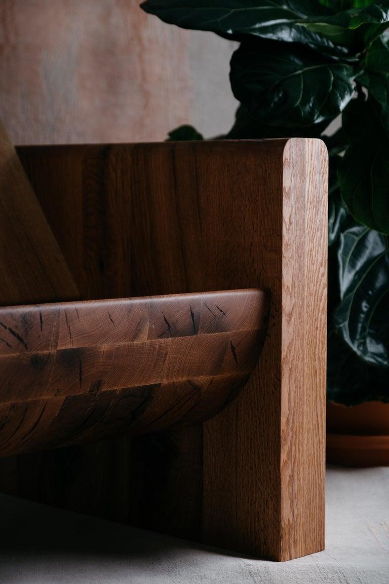 Organic Modern Red Oak Armchair by Odami For Sale