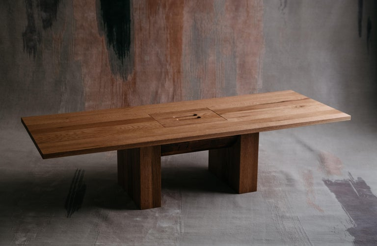 Red oak coffee table by Odami