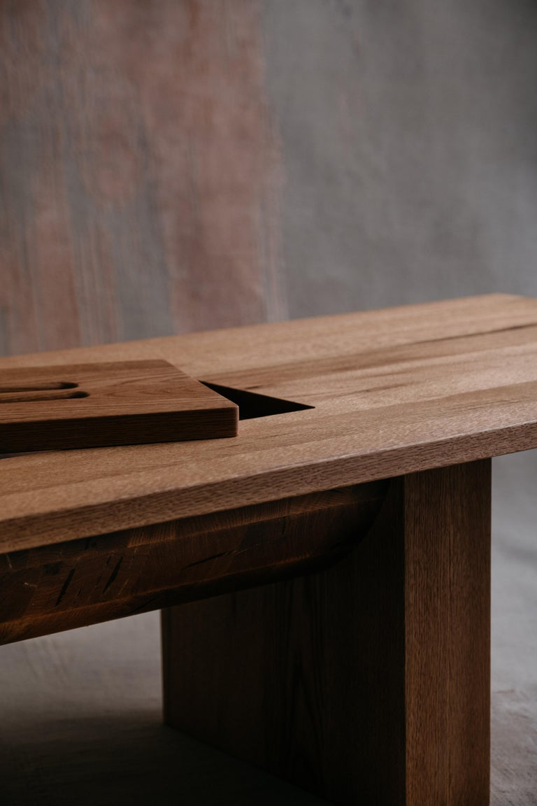 Organic Modern Red Oak Coffee Table by Odami For Sale
