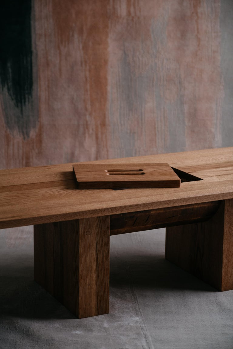 Canadian Red Oak Coffee Table by Odami For Sale