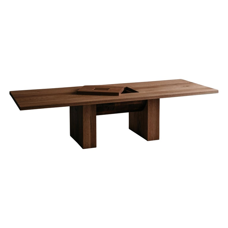 Red Oak Coffee Table by Odami For Sale