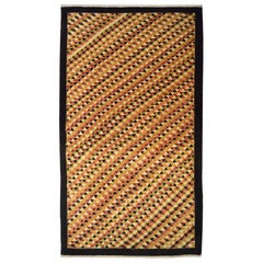 Red, Orange, and Green Contemporary Carpet with Geometric Pattern