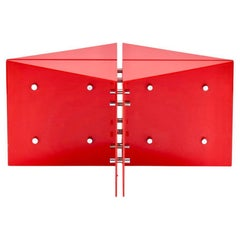 Red Origami Coffee Table by Neal Small, 1966, New York, USA, Labelled