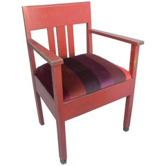 "Red Patina Side chair in ""De Stijl "" Design, The Netherlands, 1940s"