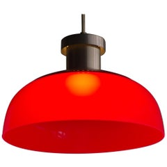 Red Pendant Lamp 4017 Designed by Achille Castiglioni for Kartell