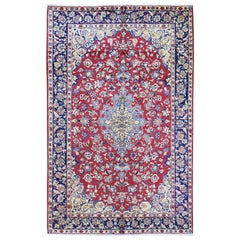 Red Persian Nahavand Full Pile Soft and Clean Pure Wool Hand Knotted Rug