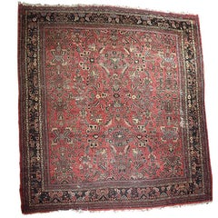 Red Tribal Look Traditional Hand Woven Wool RugPersian Rug
