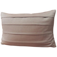 Red Pleated Woven Silk Decorative Lumbar Pillow