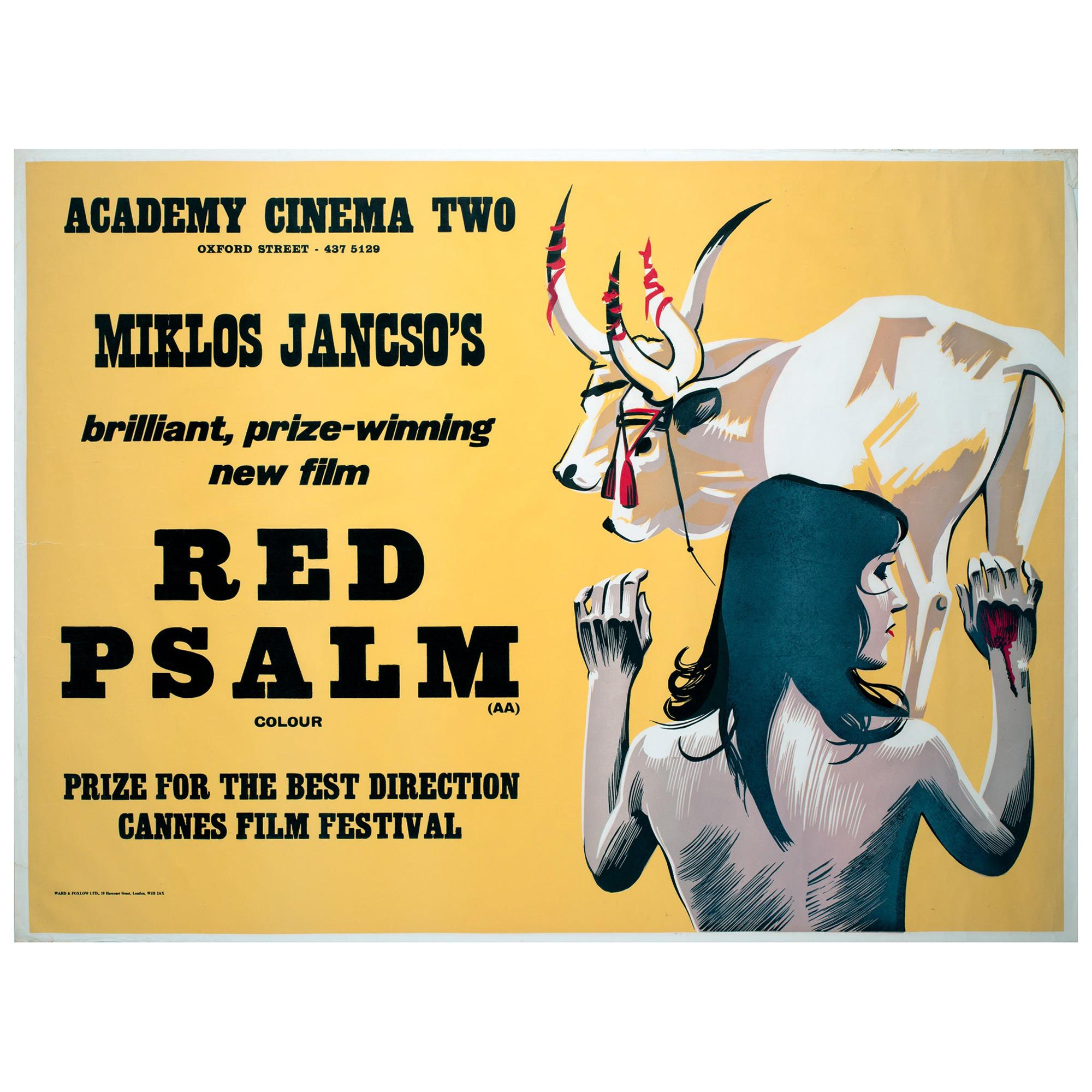 Red Psalm 1973 Academy Cinema London UK Quad Film Poster, Strausfeld