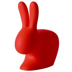 In Stock in Los Angeles, Red Rabbit Chair by Stefano Giovannoni