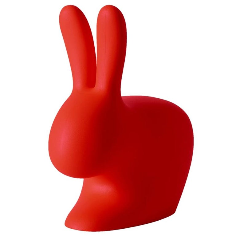 In Stock in Los Angeles, Red Rabbit Chair by Stefano Giovannoni For Sale