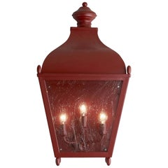 Red Reggio Porch Light