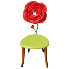Red Rose Accent Chair