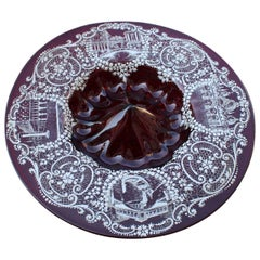 Red Rubin Murano Glass Decorative Bowl Style of Zecchin Cappellin 1920s Italy