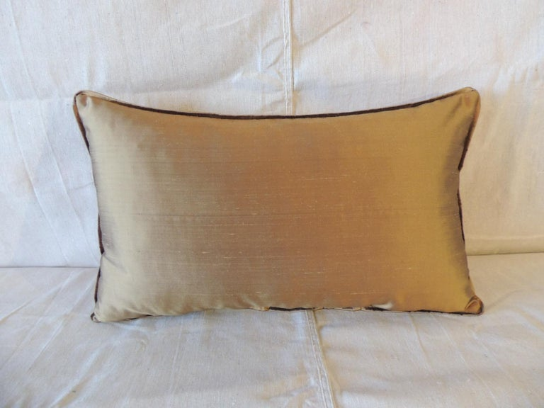 Hand-Crafted Red Satin Cotton Modern Lumbar Decorative Pillow For Sale