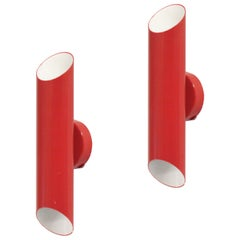 Red Scandinavian Wall Lights by Jonas Hidle for Høvik Lys, 1970s