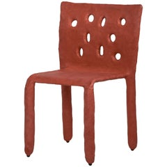 Red Sculpted Contemporary Chair by Victoria Yakusha