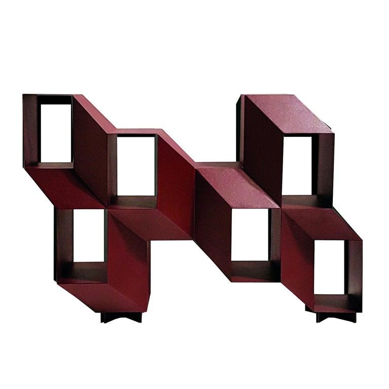 "Red Sculptural ""Rocky"" Credenza, Charles Kalpakian For Sale"
