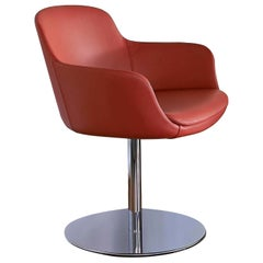 Red Sella Swivel Chair
