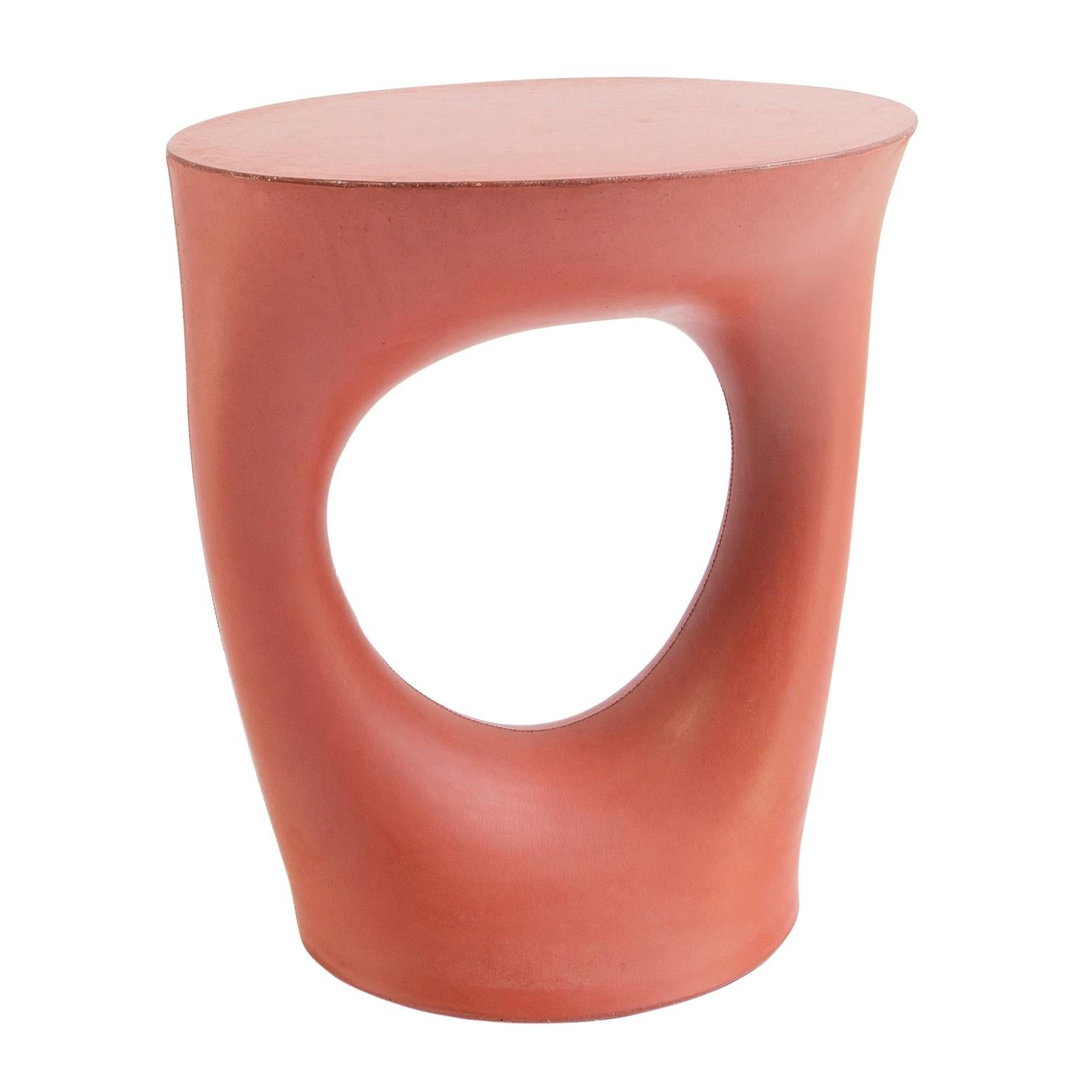 Red Short Kreten Side Table from Souda, Made to Order