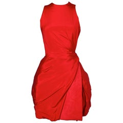 Red silk vintage dress Atelier Versace