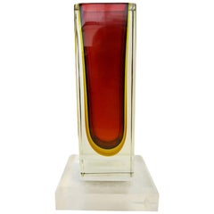 Red Sommerso Vase by Mandruzzato FINAL CLEARANCE SALE
