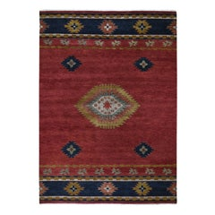 Red Southwest Design Pure Wool Hand Knotted Oriental Rug