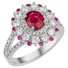 Red Spinel and Diamond Cocktail Ring