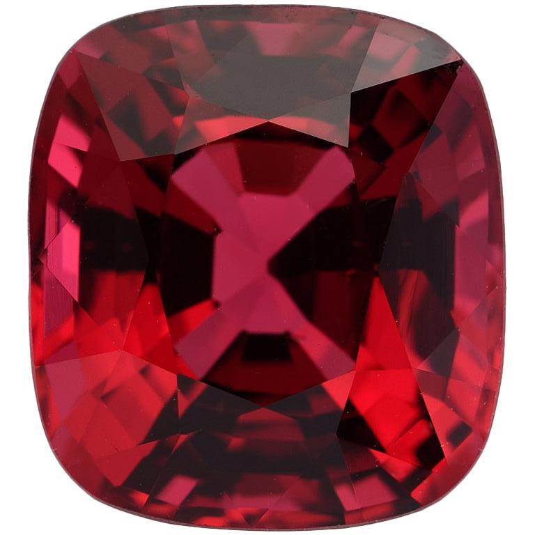 Red Spinel Burma Cushion 5.05 Carat AGL Certified For Sale