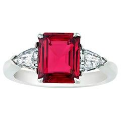 Red Spinel Ring, 2.03 Carats