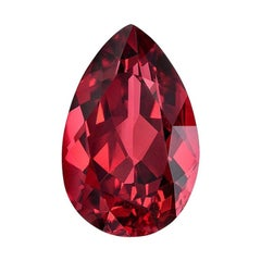 Red Spinel Ring Gem 2.96 Carat Pear Shape Mahenge Loose Gemstone