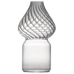 Red Square Glass Vase by Giorgio Bonaguro for Driade