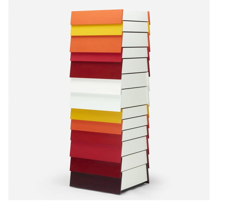 British Red Stack Cabinet by Shay Alkalay and Raw Edges, Established & Sons, UK, 2008 For Sale
