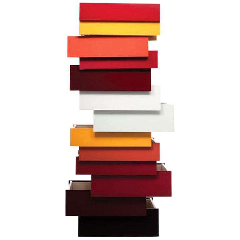 Red Stack Cabinet by Shay Alkalay and Raw Edges, Established & Sons, UK, 2008 For Sale