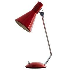Red Stilnovo mod. 8042 Desk Lamp from the 1950s