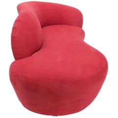Red Suede Weiman Preview Chaise Lounges Sofa